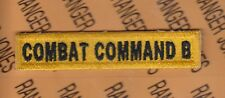 US Army Armored Forces COMBAT COMMAND B Tank Armor tab patch c/e