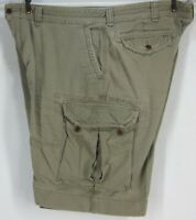 RALPH LAUREN MEN'S W46 B CLASSIC POLO OLIVE CHINO CARGO SHORTS ALL COTTON
