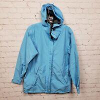 Lands End Gore-Tex Hooded Windbreaker Jacket Light Blue Womens Size XS 2-4