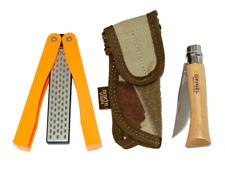 Opinel Pocket knife 3 in 1 complete EDC KIT Diamond sharpener & sheath included