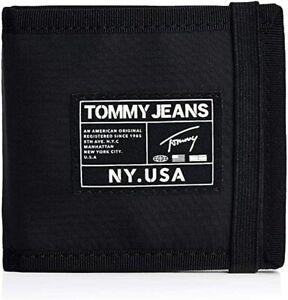 BNEW Tommy Hilfiger Men's Tommy Jeans Urban Tech Credit Card Holder, black