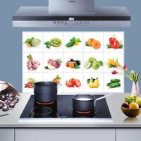 Obst Muster Küche Anti Rauch Aufkleber Wandsticker Nett Dekor Sticker Y9P1
