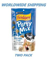 Purina Friskies Party Mix Cat Treats Beachside 2.1 Oz TWO PACK WORLD SHIPPING