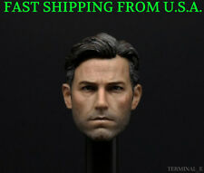 "1/6 Ben Affleck Batman Bruce Wayne Head sculpt 2.0 For 12"" Hot Toys Figure ❶USA❶"