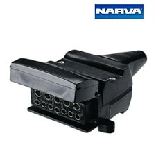 Narva 12 Pin Flat Trailer Socket with Reed Switch Normally Open Circuits 82074