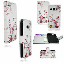 Stylish Leather With Card Slot Soft Cover Case For Samsung Galaxy Ace 4 G357