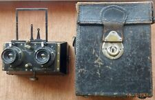 RARE GUERIN & CIE PARIS MINIMUS LEROY STEREO CAMERA WITH CASE S/N 17001