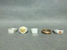Lot de cinq ancienne bague poilu première guerre mondiale ww1 art des tranchée