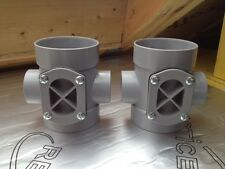 2x 110 Access Boss Fitting - Solvent Weld - Hepworth. soil stack waste pipe