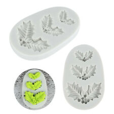 Decoration Home Kitchen Food Silicone Molds Chocolate Christmas Tree Leaf Mold