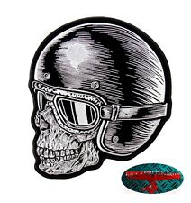 HELMET SKULL RIDER Patch Aufnäher Aufbügler Biker Motorrad Rocker Harley USA V2