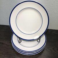 "Williams-Sonoma Brasserie Blue 9"" Luncheon / Salad Plates Set Of 4 Japan"