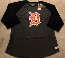 Detroit Tigers Raglan 3/4 Sleeve Cooperstown T-shirt Mitchell & Ness MLB