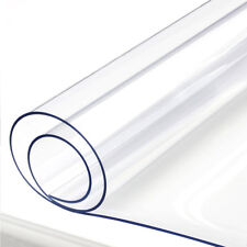 1.5mm Clear Tablecloth Wipe Transparent Table Protector PVC Waterproof Cover
