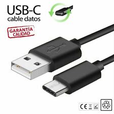 Cable Micro USB-C 3.1 Carga y Datos para Smartphone Tablets MacBook Tipo C Negro