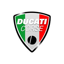 Sticker plastifié DUCATI CORSE ITALIE Italia Monster Hypermotard - 6cm x 5,5cm