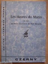 ) album partition LES HEURES DU MATIN op. 821 - CZERNY - DURAND - piano