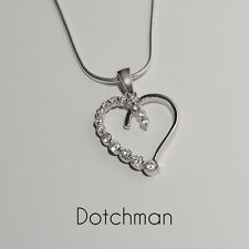 """925 Sterling Silver Cubic Zirconia Heart  With 18"""" Snake Chain.  A Perfect Gift."""