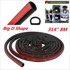 Black 8M Big D Rubber Weatherstrip Car Door Window Edge EPDM Seal Hollow Strip
