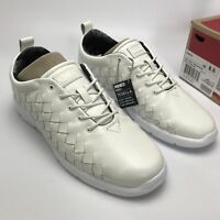 Vans Mens Tesella Leather 3D Aloha Sneakers  trainers shoes White size UK 7.5