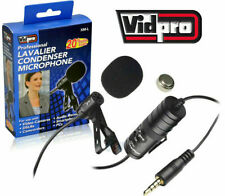 New Vidpro Omnidirectional Condenser Lavalier Microphone F Video Audio Recorders