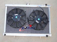 "FOR NISSAN SKYLINE S13 CA18 R32 RB20 aluminum RADIATOR +2*10"" fan"