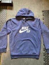Used Nike SB Mens Small S Navy Hoody Hoodie Skate Vintage