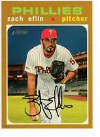Zach Eflin 2020 Topps Heritage 5x7 Gold #295 /10 Phillies