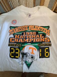 Tennessee Volunteers 1998 National Champions College Football T Shirt XL
