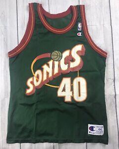 GUC! VTG Champion Seattle SuperSonics Sonics Shawn Kemp NBA Jersey Sz 44