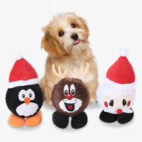 KQ_ Pet Dog Puppy Plush Chew Bite Resistant Toy Teeth Grinding Built-in TPR Ball