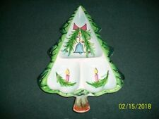 Vintage 1959 Holt Howard Candy Relish Christmas Tree with bell 3 sectioned dish
