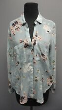 CLOTH AND STONE Blue Floral Long Sleeves Button Front Casual Blouse Sz XS GG1210