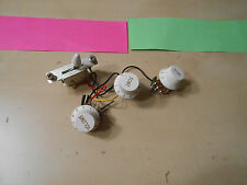 Wiring Harness 5 Way Switch + Three Pots + Knobs Fits Fender Strat Stratocaster