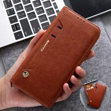 Leder Magnetic Card Slot Wallet Handy Hülle Case für Huawei Mate 20 Pro P20 Lite