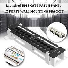 Cat6 12 Port Pro RJ45 Mini Patch Panel 110 Network w/ Surface Wall Mount Bracket