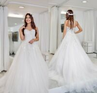 Plus Size Sweetheart Wedding Dresses Appliques Bridal Gowns Strapless Custom