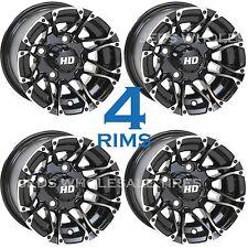FOUR 10x7 4/4 STI Aluminum Golf Cart RIM WHEEL HD3 GBMF for EZGO ClubCar Yamaha