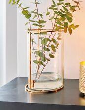 Vase Modern Glas/ Gold