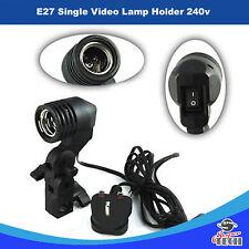Photo Studio Bulb Holder Lamp Light Brolly Flash Umbrella Mount Stand E27 Socket