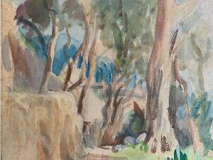 Circle of John Nash watercolour Amalfi 1926