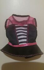 NEW BLACK PATENT LEATHER & PINK SATIN & MESH TOP FOR CURVY BARBIE DOLL