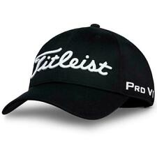 New Titleist Pro V1 Fj 2019 Tour Performance Golf Hat Black Strapback Cap Osfm