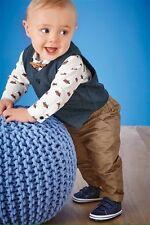 Next Baby Boy Multi Fox Print Shirt Bow Tie Waistcoat & Trousers Four Piece Set