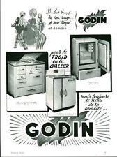 Publicité ancienne électro ménager GODIN advertising 1953