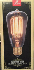 Globe Electric 60W Incandescent Vintage Squirrel Cage Medium Base Light Bulb