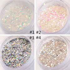 Nail Art Glitter Powder Blue Pink White Silver Sequins Manicure DIY 15g/Box