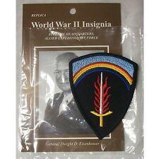 """REPLICA  WORLD WAR II  INSIGNIA SUPREME HEADQUARTERS PATCH 3 1/2"""" X 2 1/2"""" NEW"""