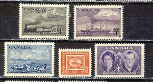 1951 #311-#314 4¢-15¢ STAMP CENTENARY COMPLETE SET & #315 4¢ ROYAL VISIT F-VFNH