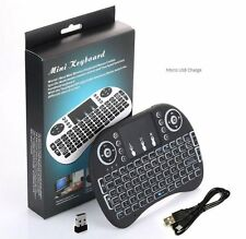 Rii i8+ Type Keyboard NEW Backlight Mini Wireless Bluetooth Touchpad with Mouse